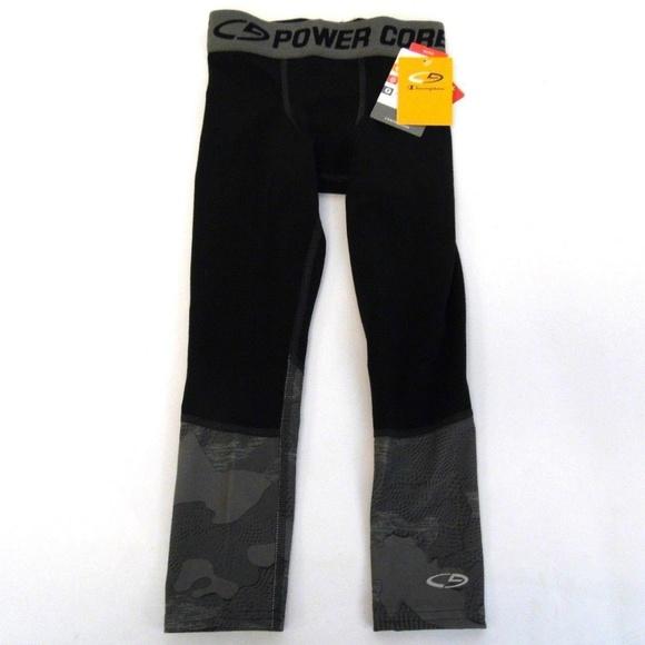 0d110f6c1ef3 New Champion Boys Gray Black Athletic Pants XS